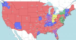 Steelers vs Vikings TV Coverage Map