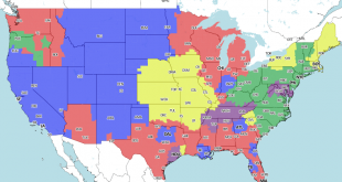 Steelers Jets TV Map