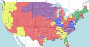 Steelers TV map